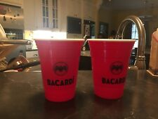 Bacardi Red Reusable Drinking Cups Set Of 2