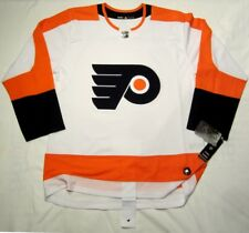 PHILADELPHIA FLYERS sz 52 = Large ADIDAS HOCKEY JERSEY Climalite Authentic White