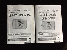 Canon Powershot S100 Digital Camera User Guide Instruction English/Spanish
