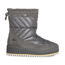 UGG BECK BOOT CHARCOAL WATERPROOF SUEDE QUILTED WOMEN'S BOOTS SIZE US 7.5 NEW