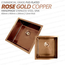 450mm Square ROSE GOLD Copper Premium PVD Stainless Steel Laundry/Kitchen Sink