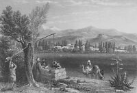 TURKEY, THYATIRA SEVEN CHURCHES BOOK OF REVELATIONS ~ 1835 Art Print Engraving