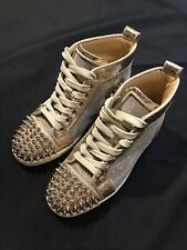 CHRISTIAN LOUBOUTIN SPIKE GLITTER SNEAKERS WOMENS 35 US 5 LADIES $1200 AUTHENTIC