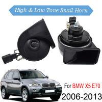 For BMW X5 E70 2006-2013 Snail Horn Loud  Dual Tone Waterproof 110-125db 12V