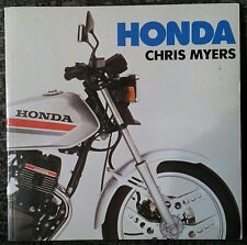 Honda Motorcycles Guide 1983 Vintage Antique Chris Myers Arco Out Of Print Rare!