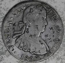 1809 Ferdin VII DEI GRATIA Spanish Colonies 8 Reales Silver Coin - Chop Marks!!