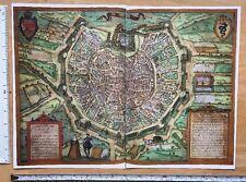 Antique Map of Milan (Milano), Italy: 1572 Braun & Hogenberg REPRINT 1500s Tudor