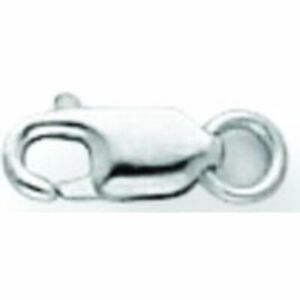 14K White Gold Lobster Clasp w/Jump Ring 7.9mm