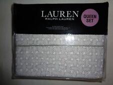 """Ralph Lauren Spencer Basketweave 4-pc Queen Xdeep Sheet Set -Up To 18"""" $170 Grey"""