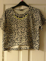 BLACK AND CREAM AGED 12/13 CROPPED TOP