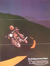 1982 Triumph Motorcycle Brochure 750 Bonneville Royal Executive, Original