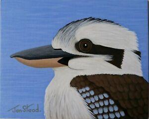 "Small Painting 8 X 10 Acrylic - Original Art - ""Kookaburra"""