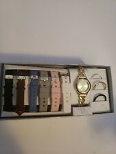 Time & Tru Women's Watch Box Set Changeable Bands And  Bezels