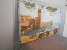 Vintage French Oil Painting on canvas  - Nautical thema  - SEASIDE signed