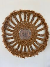 New listing Groovey Late 60's Early 70's Macrame Wall Hanging Aztec Sun Mcm Ackerman Era