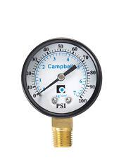 Campbell  2 in. 0 psi 100 psi Pressure Gauge, PG1T-NL