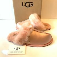 Ugg Women's Slippers Size UK 5 Scuffette Satin Pink Slip on Boxed RRP£189
