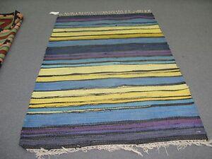 BRAIDED RAG RUG COTTON  6'-5 x 4' BEAUTIFUL NICE AND NEAT