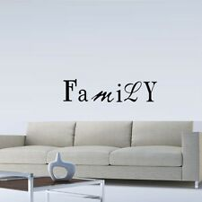 FAMILY 2 WALL QUOTE DECAL STICKER VINYL HOME SAYING LETTERING