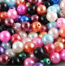 500pcs Multicolor Round Pearl Imitation Glass Beads 4mm Wholesale Lots Bulk U87