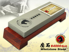 STEED Japanese Waterstone #4000 Grit Combine Wood Holder Sharpening Whet Stone