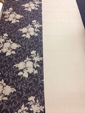 Bellagio 70cm Brown Gold Glitter Floral Wallpaper & Co-ordinating Glitter Swirl
