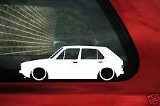 2x Mk1 bajo Golf 5 Puerta GTI 8v, CL pequeñas pegatinas, calcomanías de parachoques Contorno Silueta