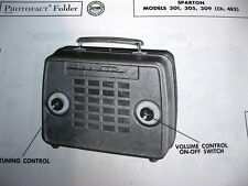 SPARTON 301, 305, & 309 PORTABLE RADIO PHOTOFACT