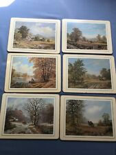 clover leaf table mats set of 6 vintage landscapes