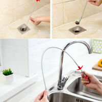 """23"""" Bendable Kitchen Sink Sewer Pipe Dredging Cleaning Hook Hair Catcher Remover"""