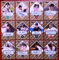 JUST MINORS Certified Baseball Card AUTOGRAPH all Numbered xx/50 - YOU PICK IT