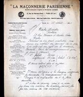 """PARIS (III°) TRAVAUX PUBLICS """"LA MACONNERIE PARISIENNE"""" en 1925"""
