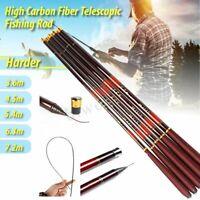 3.6~7.2m Superhard Carbon Fiber Telescopic Fishing Rod Stream Carp Hand Pole