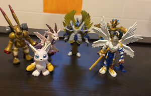 Digimon Adventure Bandai Action Feature Lot Miracle Four 4 Plus Extra !