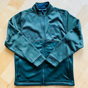 Under Armor Mens Medium Forest Green Loose Cold Gear Fleece Jacket