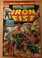 Bronze Age Marvel Premiere #17 3rd Iron Fist Red Skull Value Stamp Moench & Hama