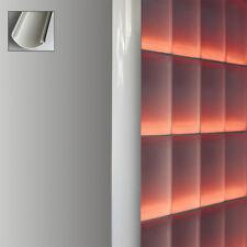 1 pièce profilé finition pour brique de verre pour épaisseur 8 cm alu Blanc 1 m