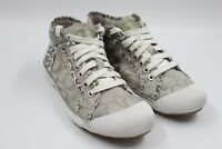 Coach Womens Ladies Brown Gold Signature Fashion Sneakers Shoes Size 6B