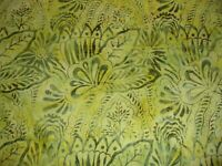 Fresh Batiks Botanica Lt Olive Green Heirloom Quilting Cotton Fabric FB027-23