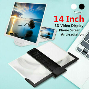 """14""""Folding 3D Enlarge Screen Magnifier Amplifier Mobile Phone HD Stand Universal"""
