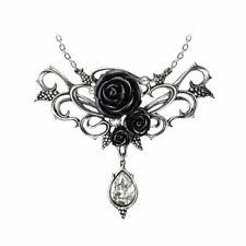 Alchemy Gothic Bacchanal Rose Necklace Pendant - Black Pewter England