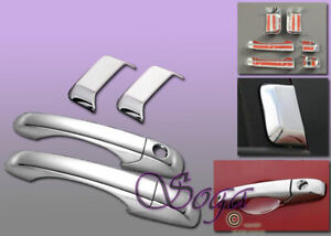 FOR 2007-2016 JEEP COMPASS 6PC CHROME DOOR HANDLE OVERLAY COVER COVERS 2010 2012