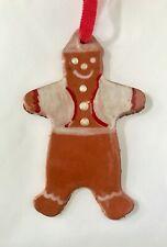 Vintage Ceramic Gingerbread Man Christmas Tree Ornament