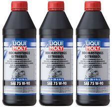Liqui Moly 4434 Hochleistungs-Getriebeöl (GL4+) SAE 75W-90 3 x 1 Liter