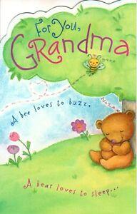 Happy Mother's Day Grandma Bear Bears I Love You Park Theme  Greeting Card