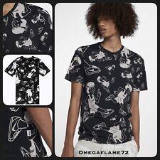 Nike NSW T-Shirt, Cortez Waffle 70's Running, Black & White, Sz M, AA6307-010