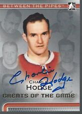 Montreal Canadiens CHARLIE HODGE Signed ITG Card