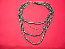 """Howlite & Cable Chain Stainless Steel Drape Necklace Set-20""""-203.00 Carats"""