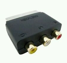 Official Microsoft Xbox 360 Block SCART Adaptor to 3 RCA AV Wii Ps3