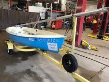 12' Alcort Puffer Sailboat No Motor w/Sportsman Trailer T1292665
